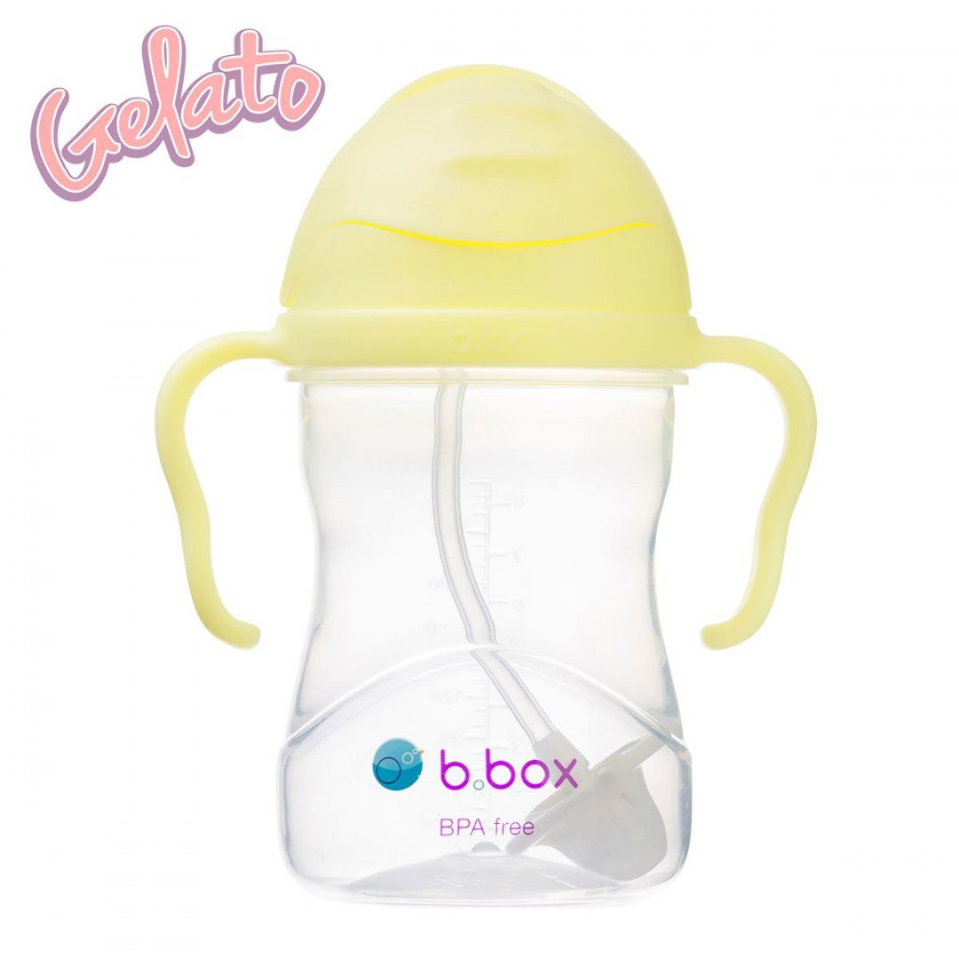 b.box Bidon ze słomką 240 ml banana split