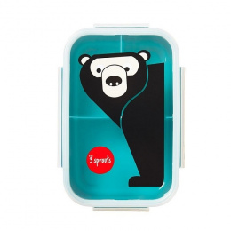 3 Sprouts Lunchbox Bento Niedźwiedź Teal